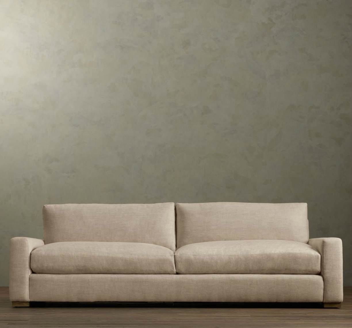 leather sectional sofa restoration hardware modern sofas phoenix az vs couch the great seating debate