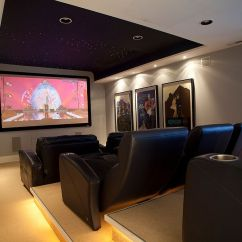 Small Living Room Setting Ideas With Fireplace And Tv 20 Beach-style Home Theaters Media Rooms That Wow!