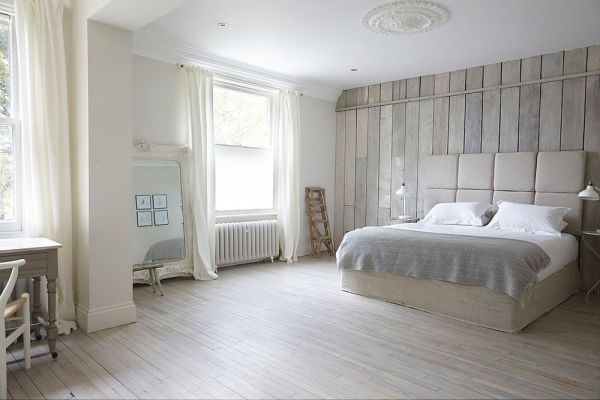 white floors in bedroom 25 Awesome Bedrooms with Reclaimed Wood Walls