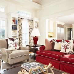 Red Sofa White Living Room Furniture Arrangements Ideas Vibrant Trend 25 Colorful Sofas To Rejuvenate Your A Touch Of Beach Style Elegance Rejuvenates The Gorgeous Family In And