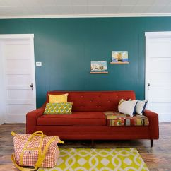 Red Couch Living Room Photos How To Decorate A Large With Little Furniture Vibrant Trend 25 Colorful Sofas Rejuvenate Your Chic Eclectic Bright Sofa Design Sarah Phipps