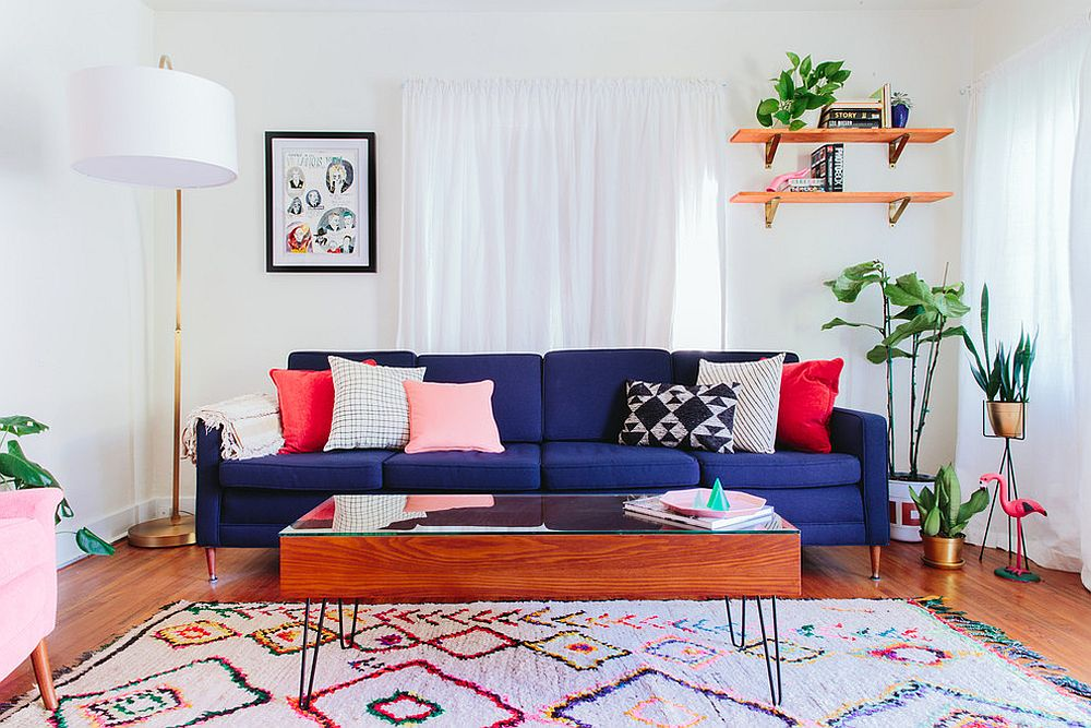 white sofa living room designs beautiful rugs vibrant trend 25 colorful sofas to rejuvenate your view in gallery deep blue fills the with cheer design taylor