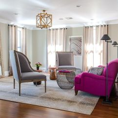 Color Sofas Living Room Small Style Ideas Vibrant Trend 25 Colorful To Rejuvenate Your View In Gallery Fabulous Sofa Bright Fuchsia Adds And Cheerful Glam The Gray