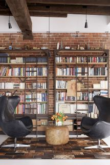 Industrial Modern Home Library