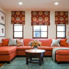 Orange Couch Living Room Ideas What Is The Best Color For Vibrant Trend 25 Colorful Sofas To Rejuvenate Your Rug Adds Subtle Pattern With Bold Design A