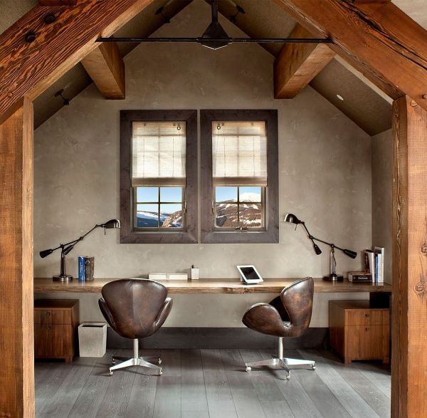 rustic home office design Natural Allure: 25 Home Offices That Celebrate the Charm