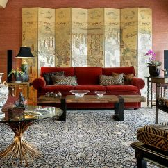 Orange Couch Living Room Ideas Indian Idea Vibrant Trend 25 Colorful Sofas To Rejuvenate Your Stunning Modern Asian With A Ralph Lauren Red Sofa And Gorgeous Screen