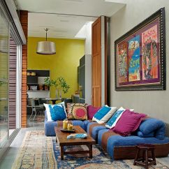 Orange Couch Living Room Ideas Grey Tile Floor Vibrant Trend: 25 Colorful Sofas To Rejuvenate Your ...