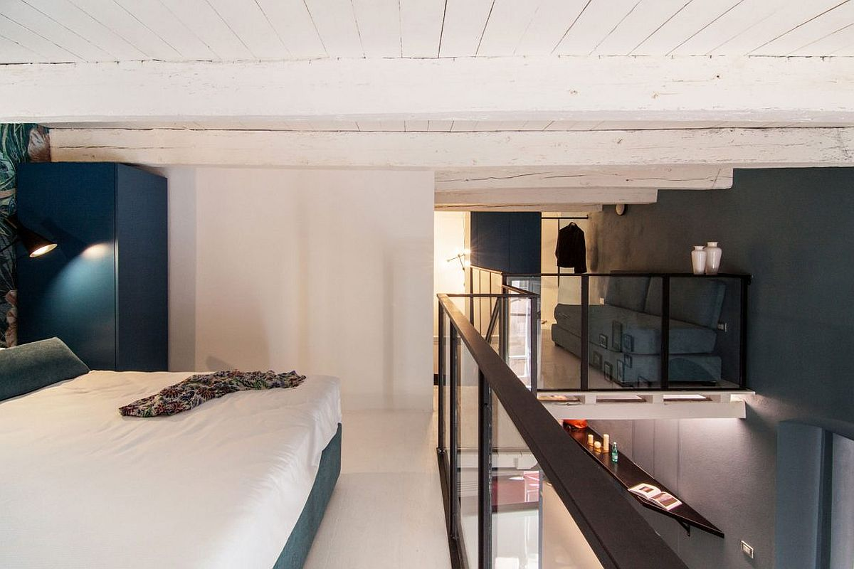 SpaceSavvy Italian Home Delights with a Nifty MezzanineLevel Bedroom