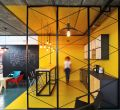 Wallpaper design kitchen office for mobile phones hd ingenious office in yellow a world of color and creative modern industrial