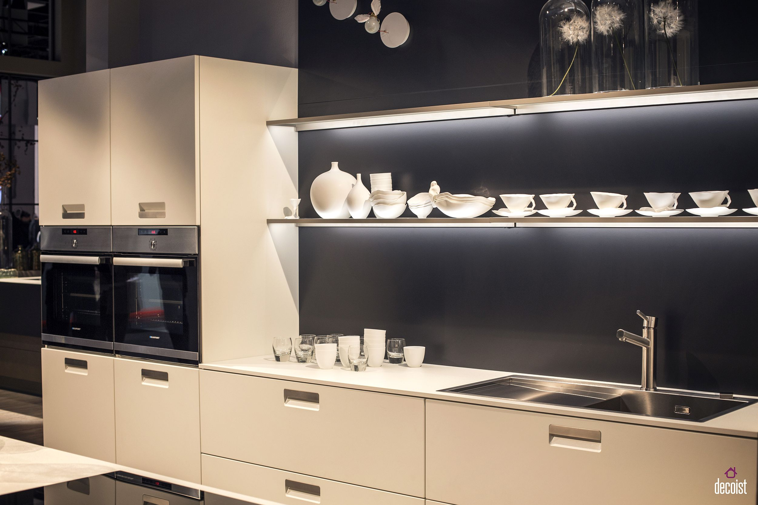 kitchen open shelves deep sink practical and trendy 40 shelving ideas for the modern in gallery beautifully lit floating