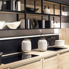 Open Metal Shelving Kitchen Built In Wine Racks For Cabinets Practical And Trendy 40 Ideas The