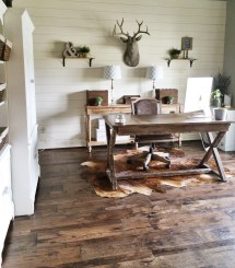 Shiplap Walls in Home Office