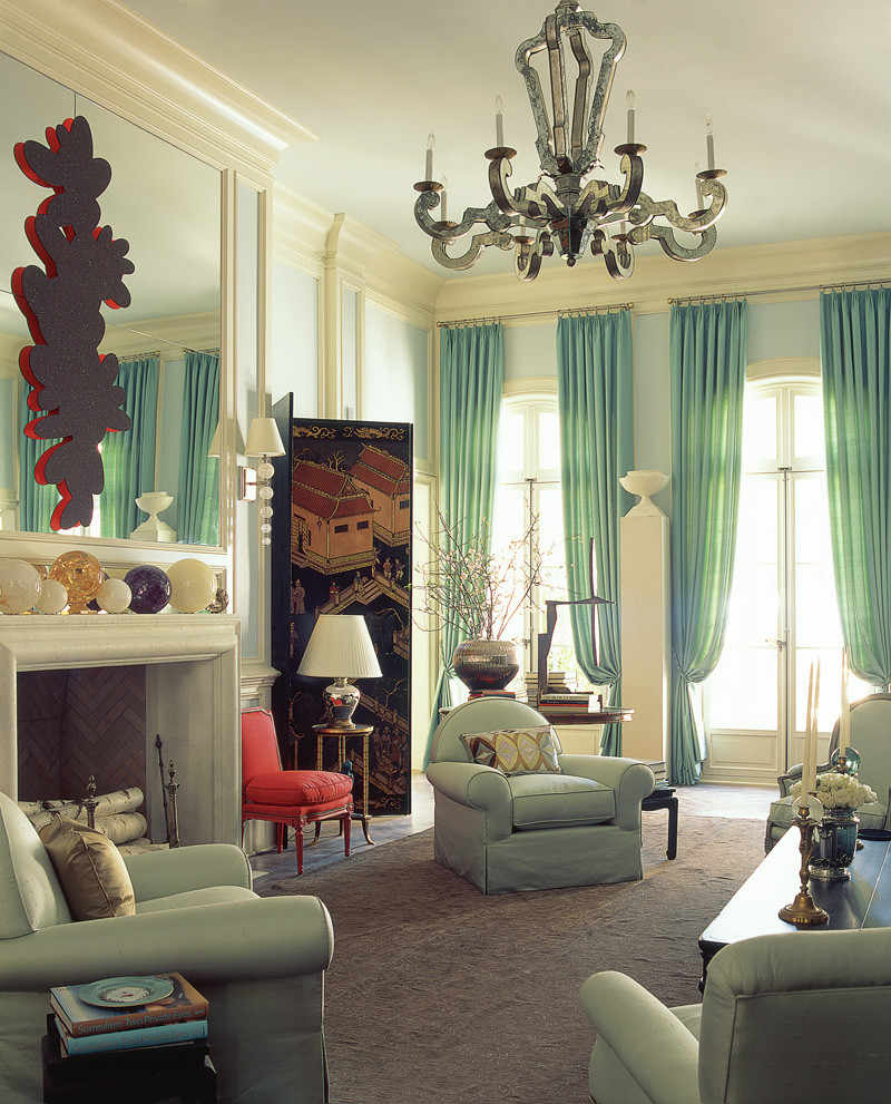curtain color ideas living room sofa chairs for in ghana fresh and pastel style your mint hues refresh with curtains