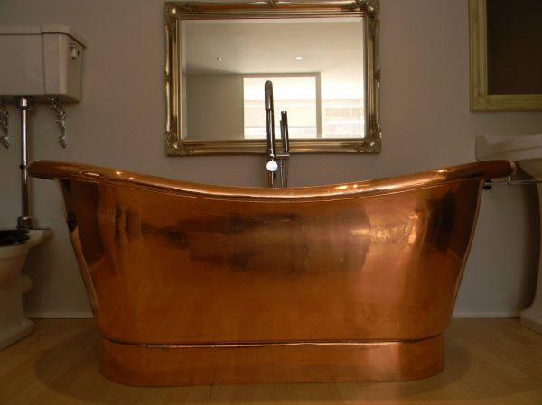 Bathroom with Copper Bathtub