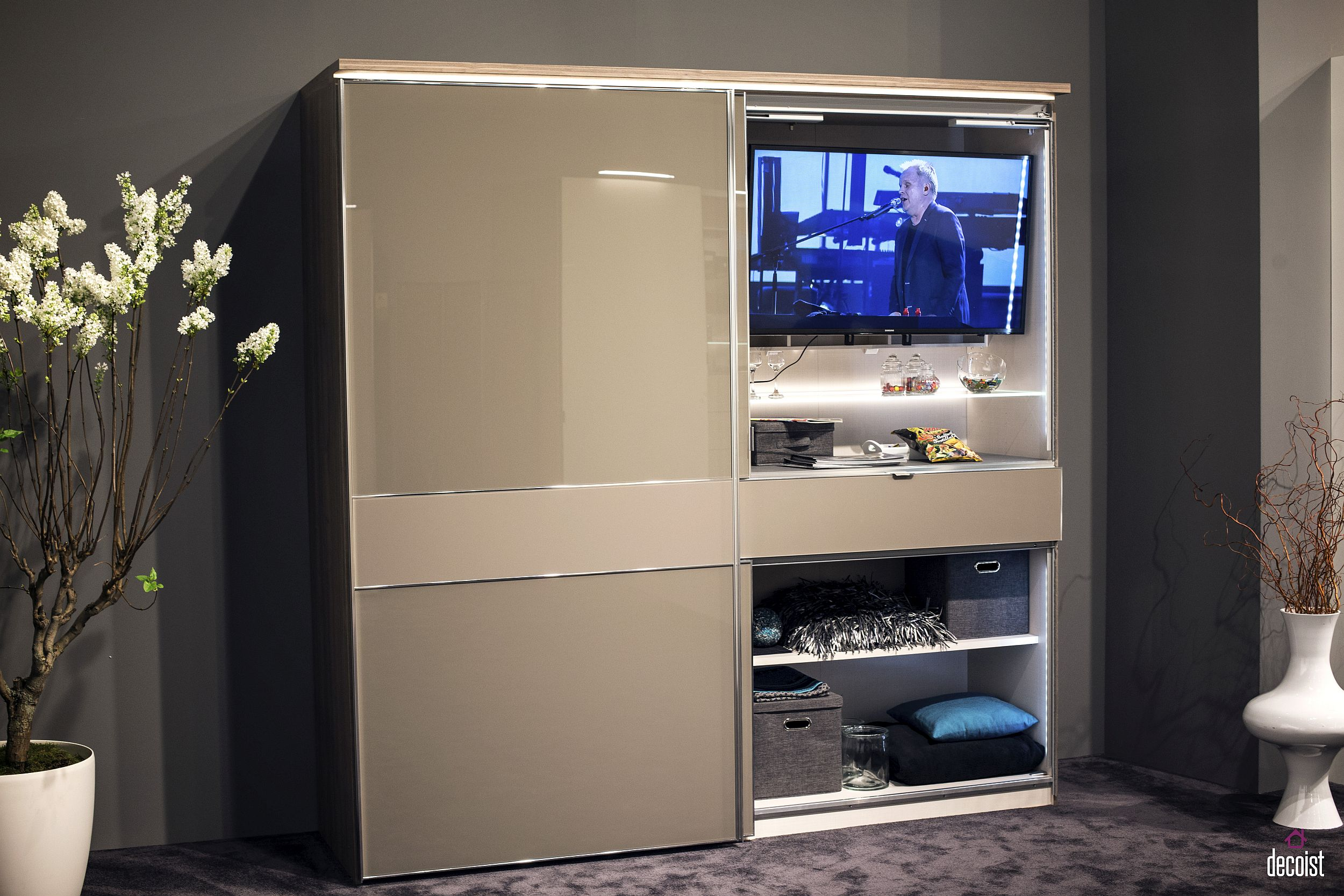 tv stand for small living room rattan tastefully space-savvy: 25 units that wow!