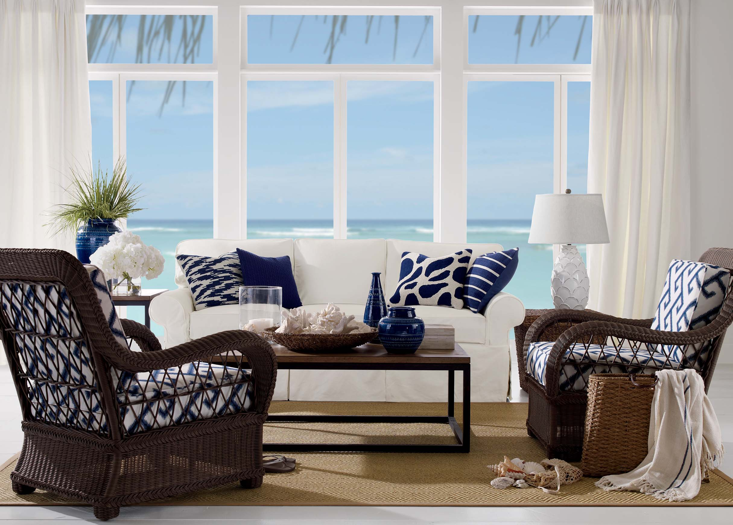 coastal living room ideas pictures small with brown leather couch rooms that will make you yearn for the beach colors of sea