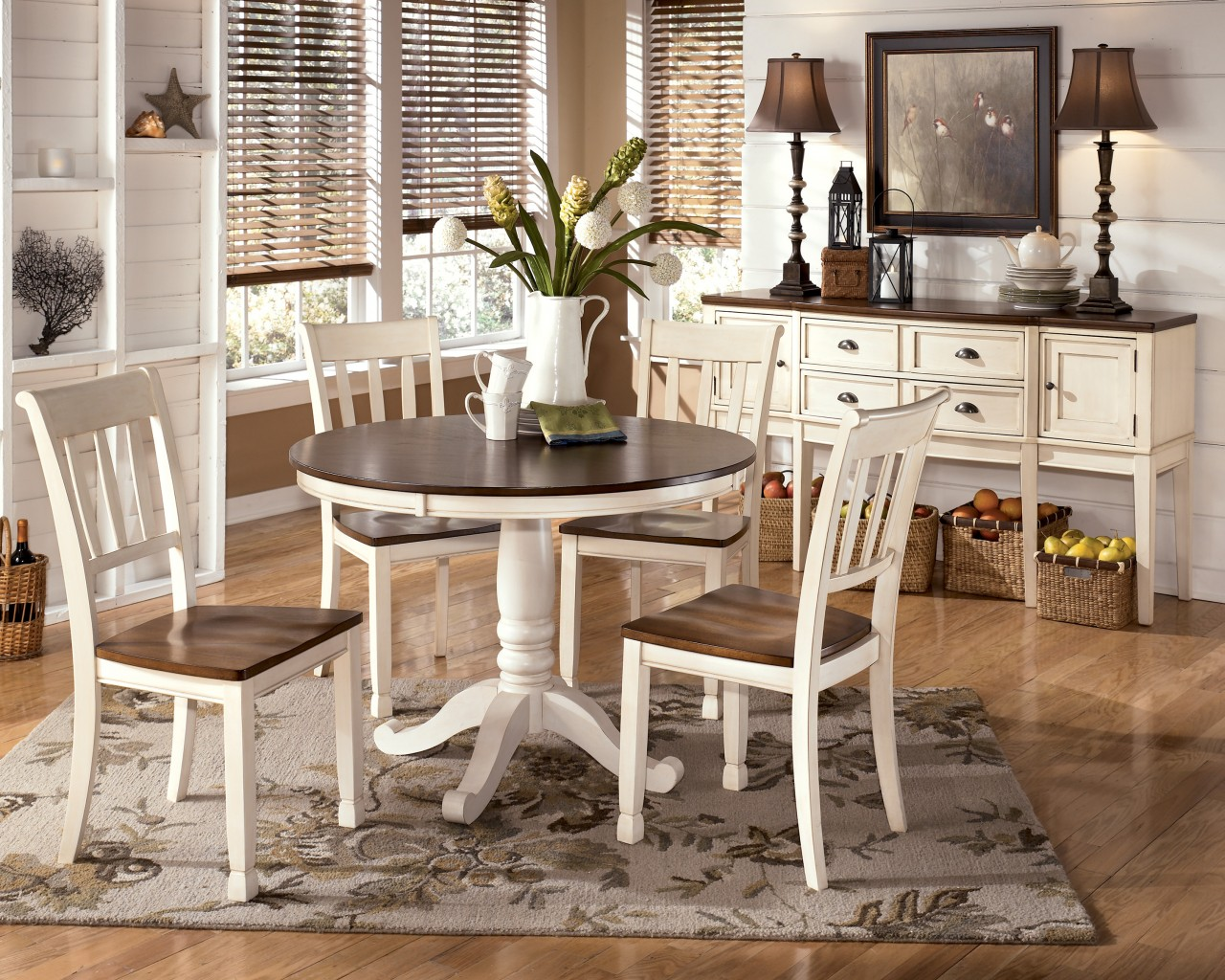 white round kitchen table amazon faucets 30 rugs that showcase their power under the dining