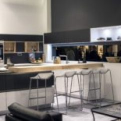 Kitchen Breakfast Bars Booth Table For 20 Ingenious Bar Ideas The Social View In Gallery Stylish Island Gray With Wooden That Steals Show