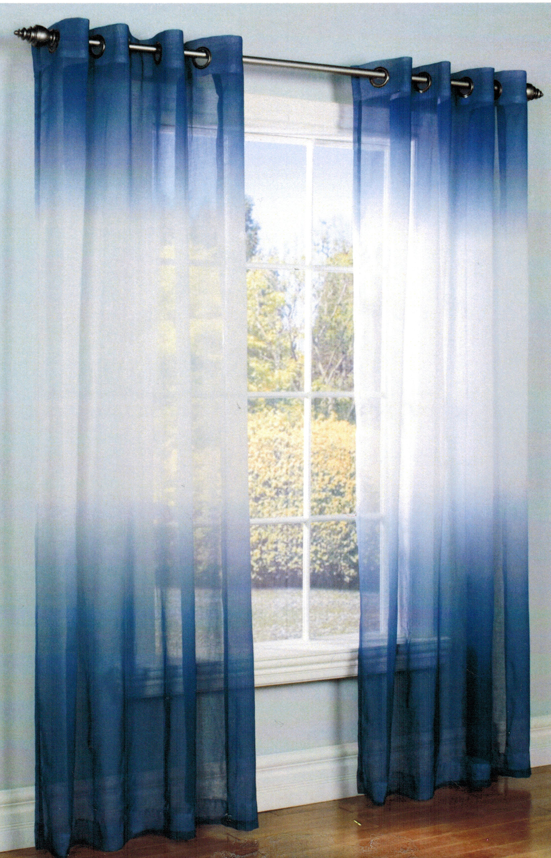 Trendy Ombre Curtains In Cold Warm and Neutral Hues