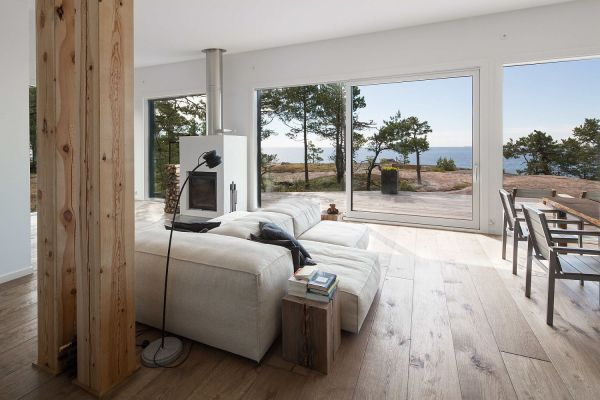 Modern Scandinavian Log Cabin Set Beautiful Baltic