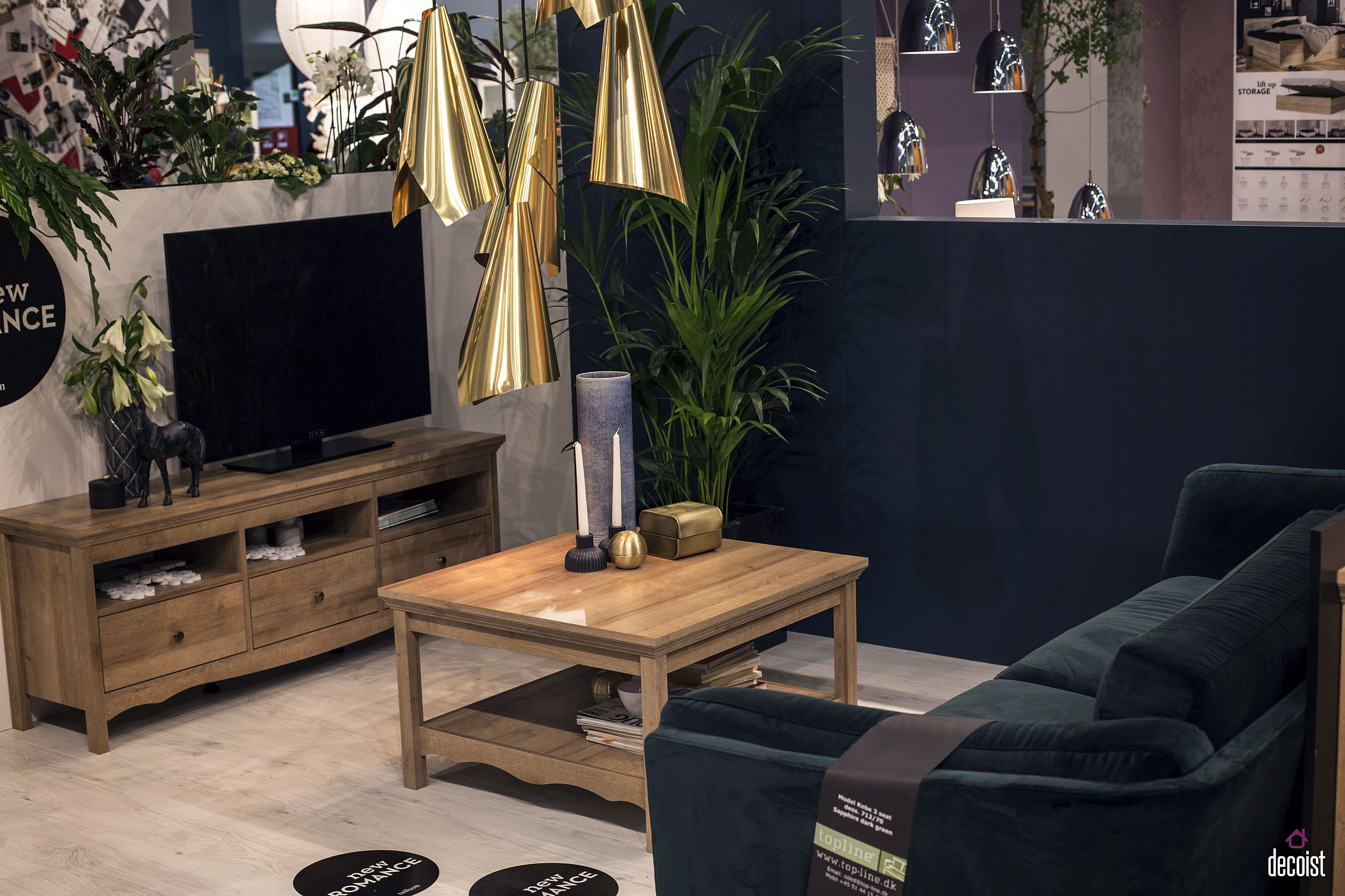 tv stand living room bench for tastefully space savvy 25 units that wow small decorating idea with a and comfy couch