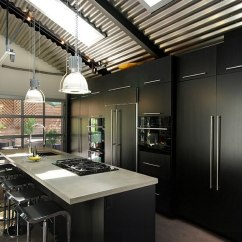 Kitchen Black Cabinets Aid Hand Blender Embracing Darkness 20 Ways To Add And Gray Your