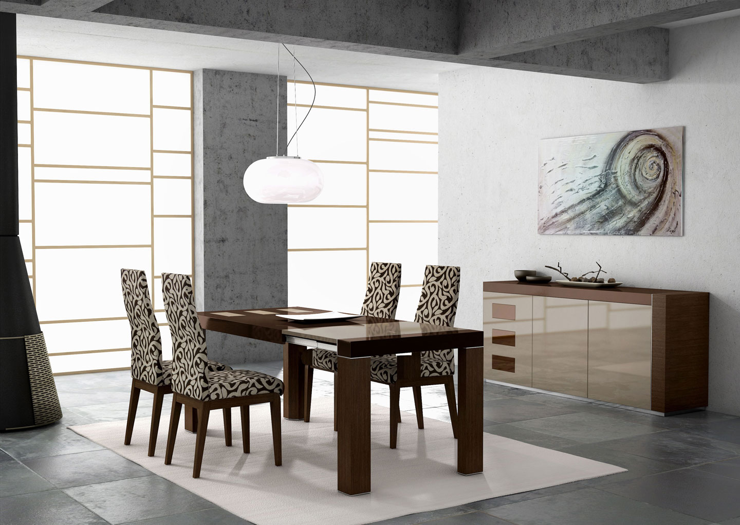 living room rugs modern ashley sets 30 that showcase their power under the dining table view in gallery
