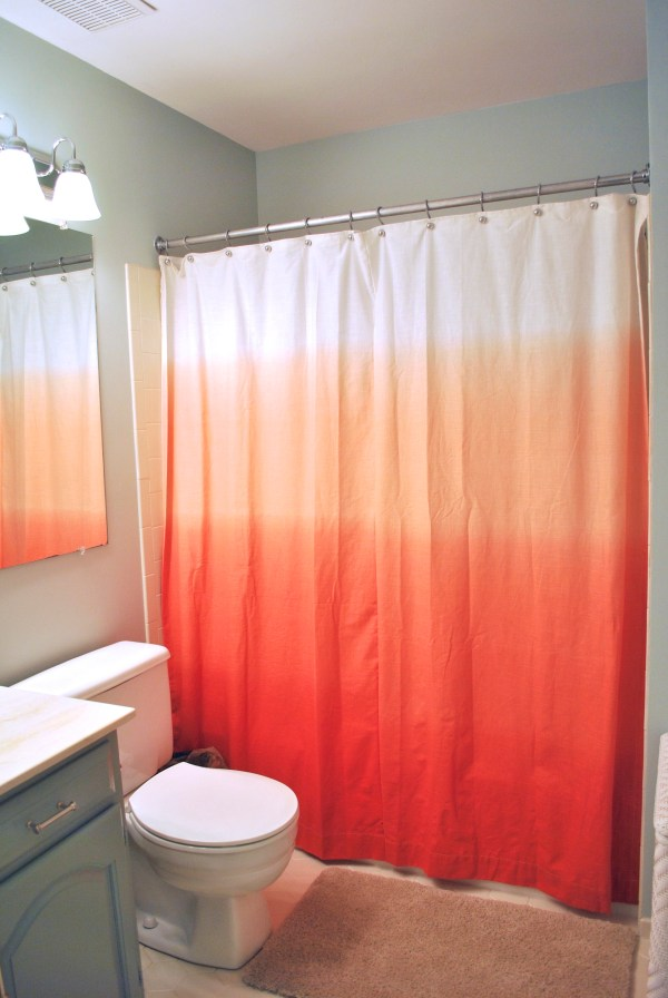 Red and Orange Shower Curtains
