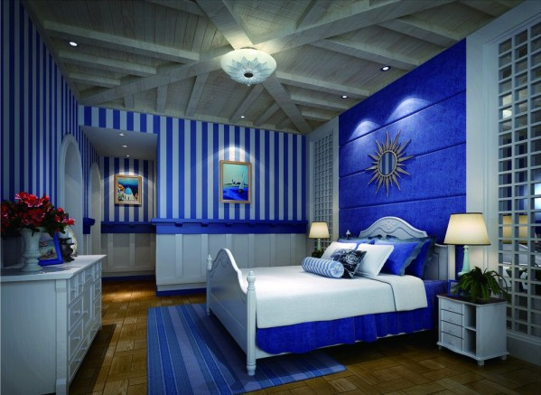 blue interior bedroom designs Moody Interior: Breathtaking Bedrooms in Shades of Blue