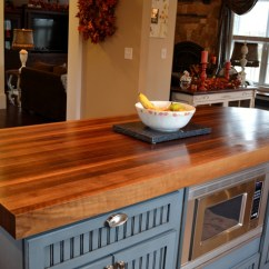 Wood Countertops Kitchen Mobile Cart Charming And Classy Wooden