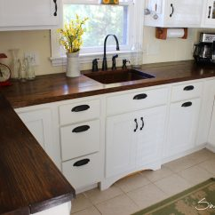 Wood Kitchen Counters Antique Grey Cabinets Charming And Classy Wooden Countertops
