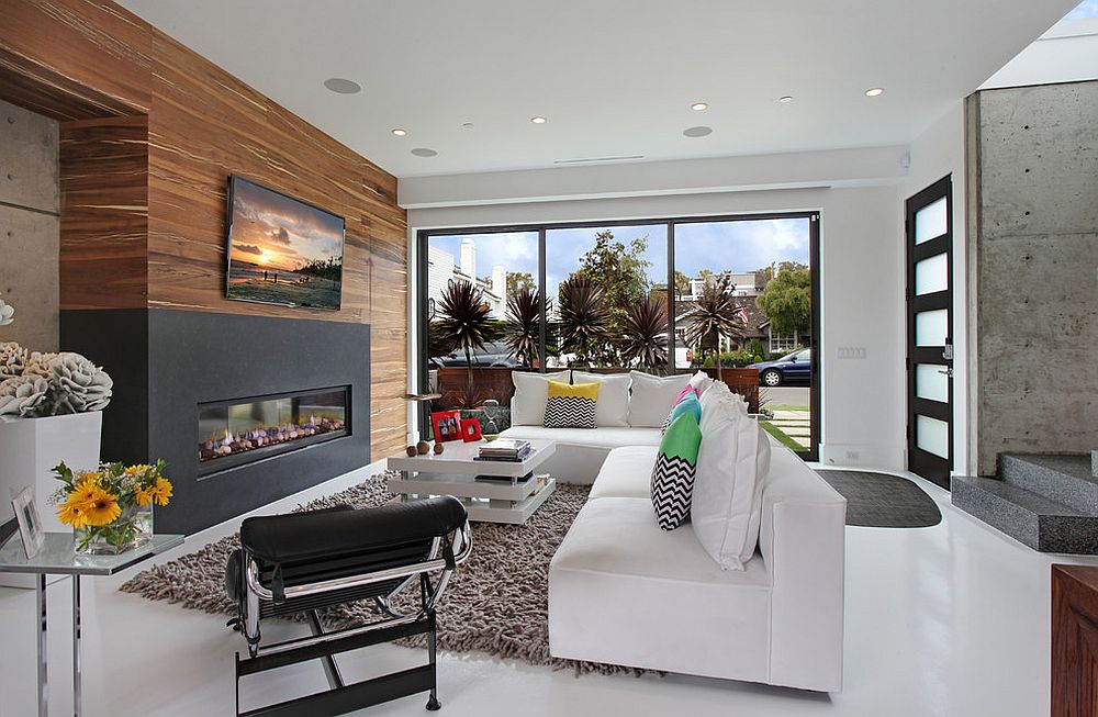 wood wall living room ideas pinterest warmth and texture 10 unique accent walls view in gallery
