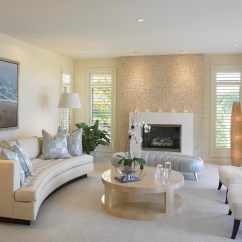 Contemporary White Living Room Furniture With Brown Sofas Beyond Bliss Of Soft And Elegant Beige Rooms