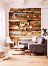 Warmth and Texture: 10 Unique Living Room Wood Accent Walls