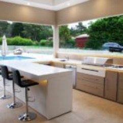 Outside Kitchen White Flat Panel Cabinets 30 Fresh And Modern Outdoor Kitchens If You Look Through Our Selection Of Will See There Are Many Ways To Style Them But The Main Focus Is Keep It