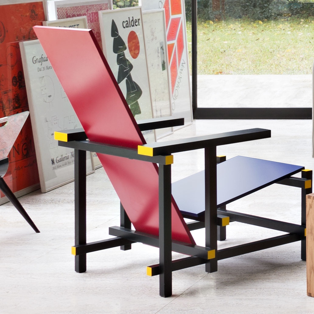 red blue chair king and queen chairs de stijl at 100 3 prototypical designs schulweg info