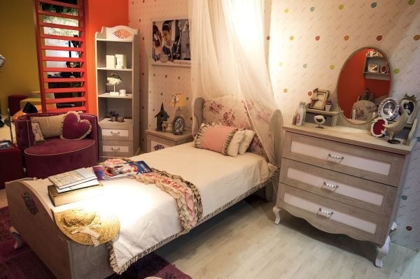 Bedroom Corner Shelves