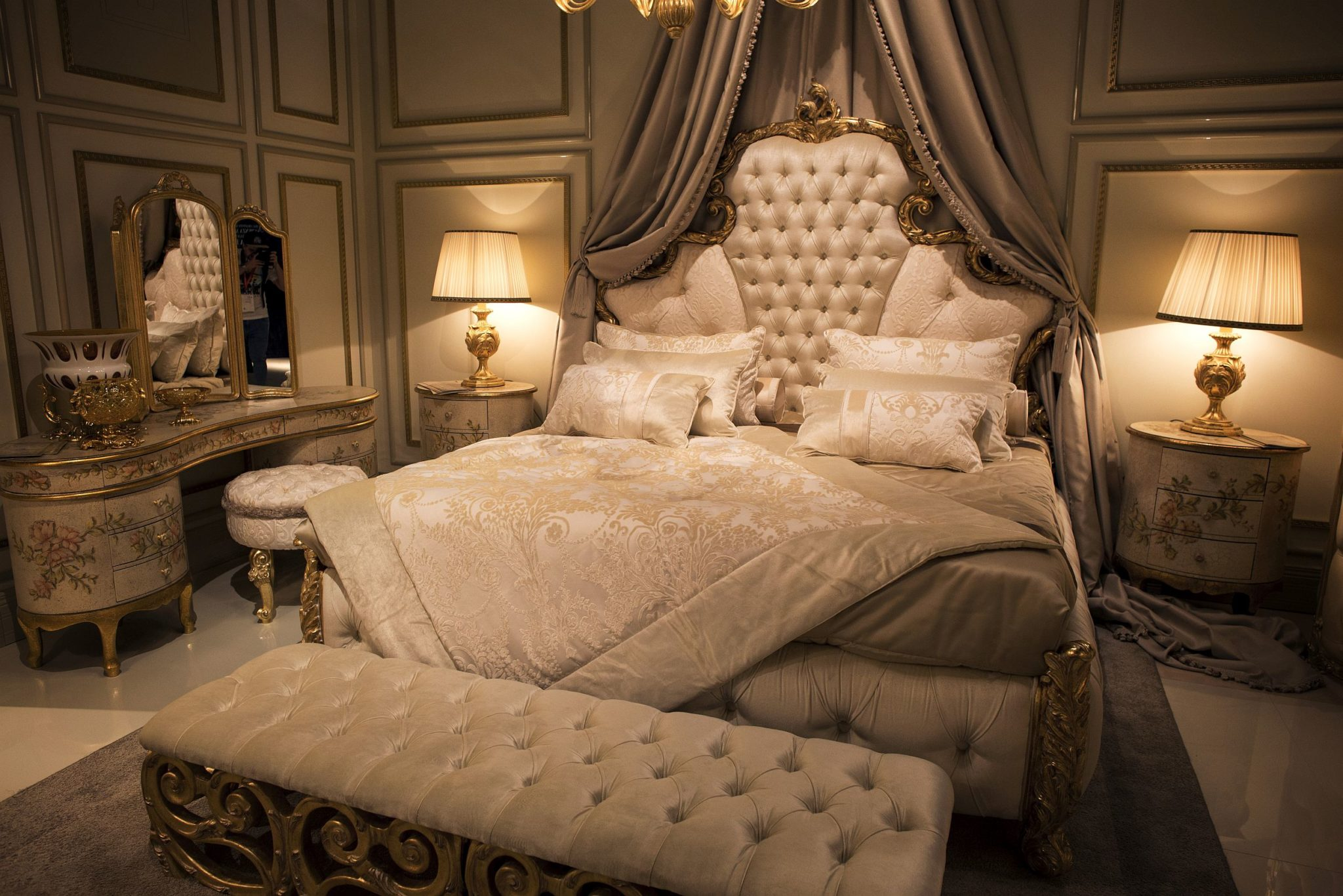 opulent bedrooms from classic to modern