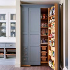 Kitchen Pantry Ideas Cabinet Hinge Types 10 Small For An Organized Space Savvy View In Gallery