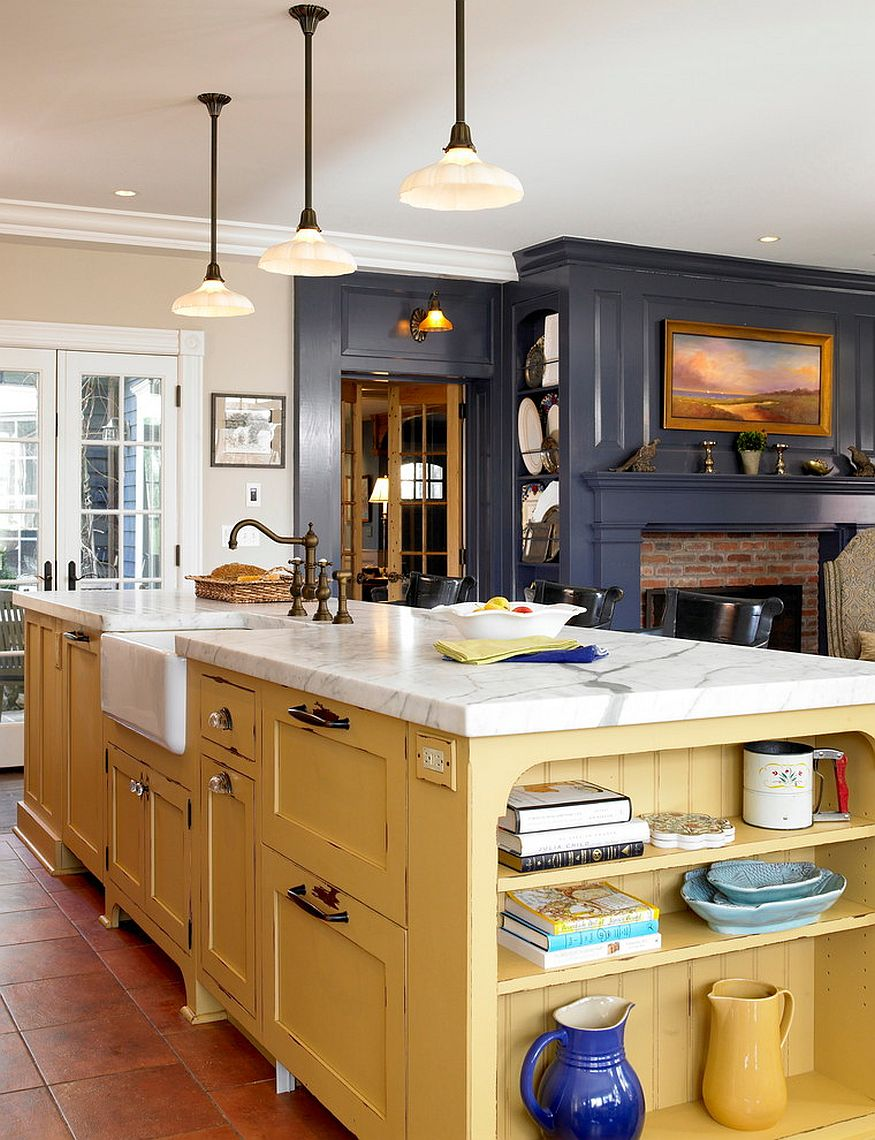 color choices for kitchen cabinets tile murals 25 colorful island ideas to enliven your home