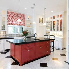Red Kitchen Islands No Touch Faucet 25 Colorful Island Ideas To Enliven Your Home