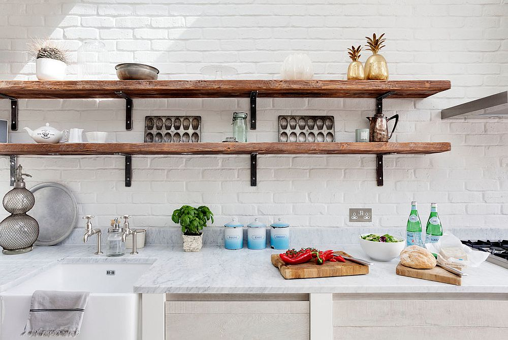 kitchen shelf teak chairs 20 rustic shelving ideas with timeless rugged charm in gallery all white