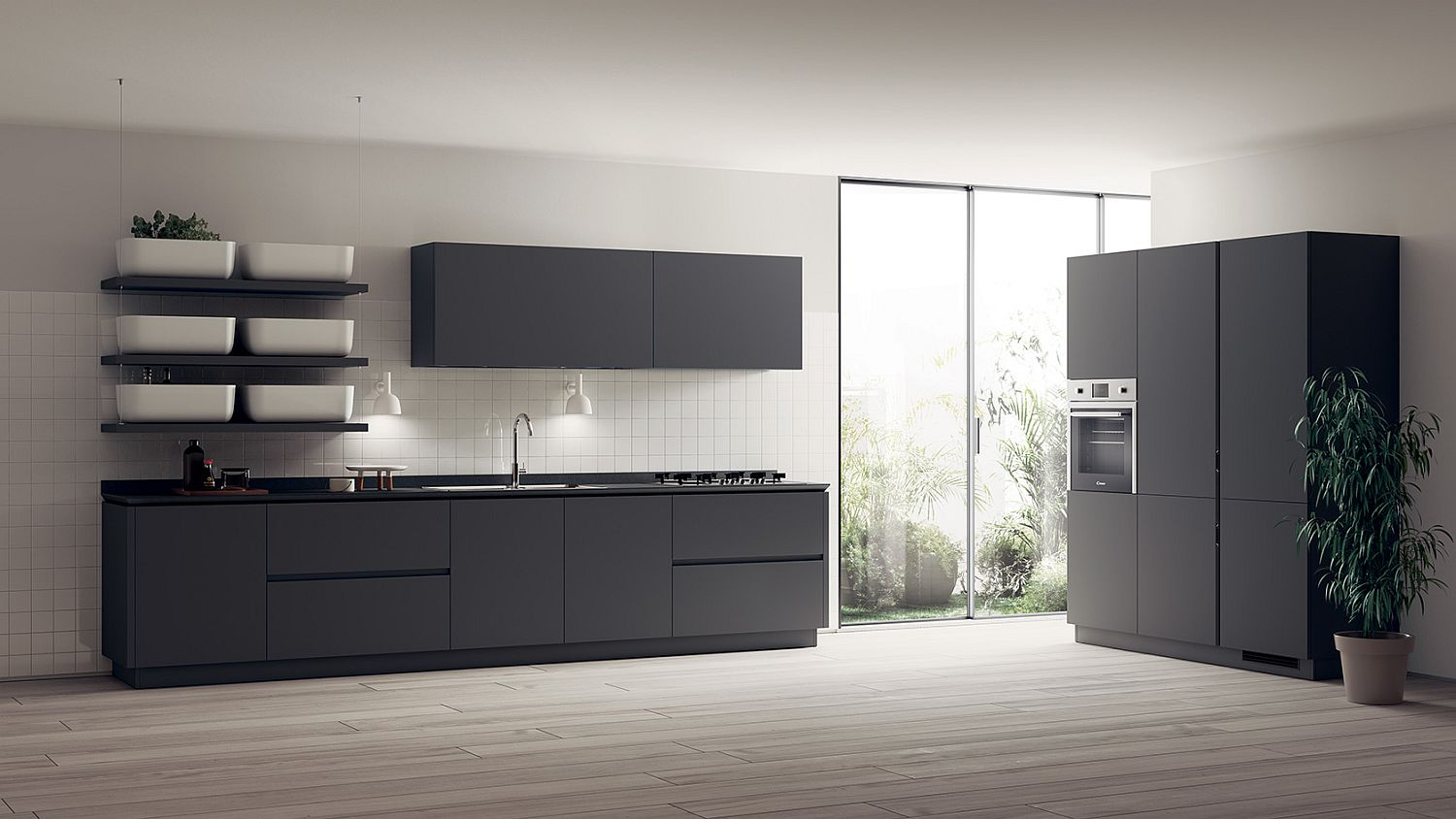 Inspired by Japanese Minimalism: Posh Scavolini Kitchen