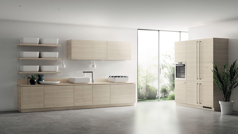 Inspired by Japanese Minimalism: Posh Scavolini Kitchen