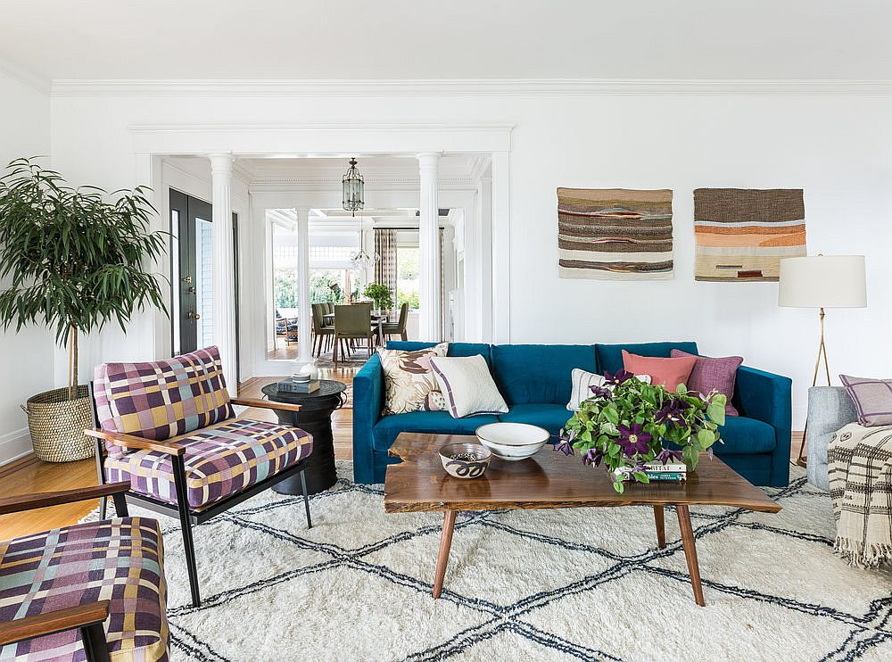 mid century modern living room lights for decoration bright and breezy seattle home with dashing accents