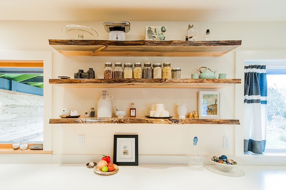 kitchen shelf stone flooring 20 rustic shelving ideas with timeless rugged charm simple shelves view in gallery