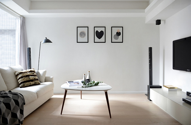 all white living room ideas tables at aaron s 20 monochromatic rooms in full of personality modern scandinavian spaces