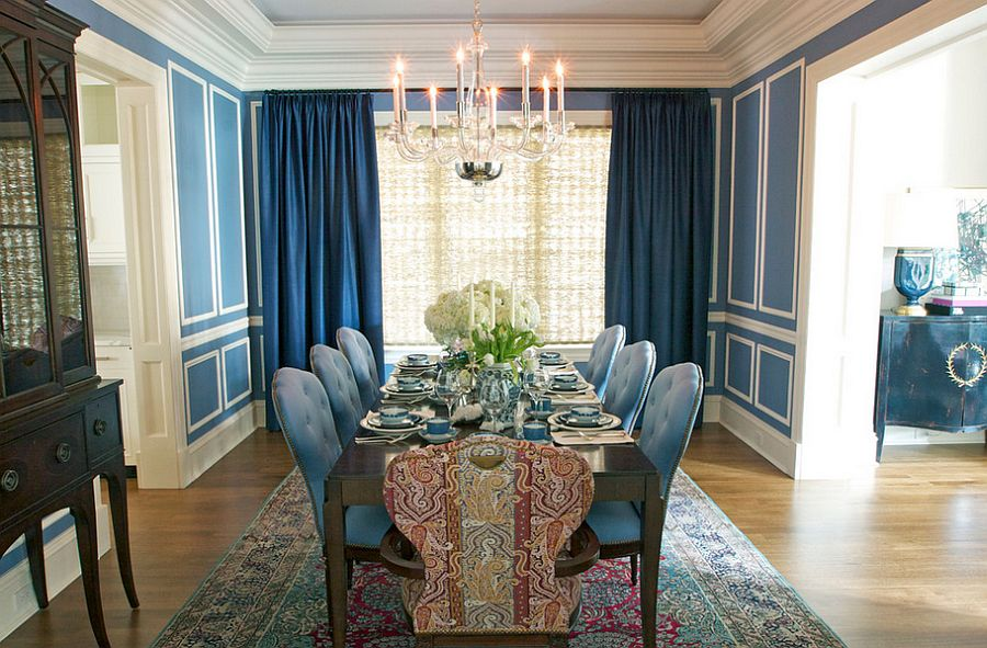 luxury apartment living room ideas wall paint colors for 15 blue drapes and curtain a stunning, modern ...