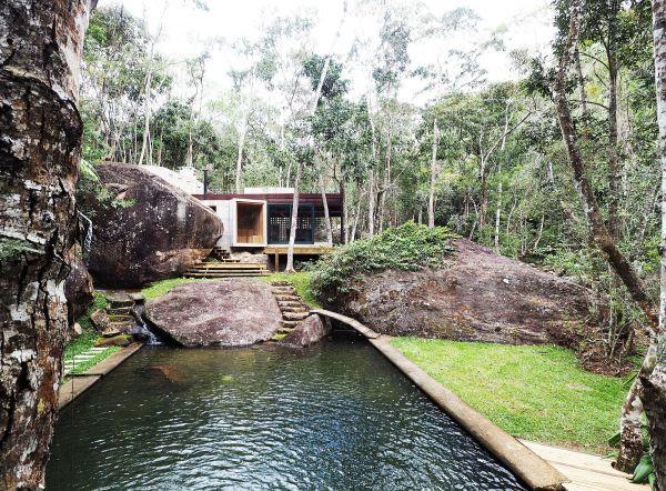 natural swimming pool set in